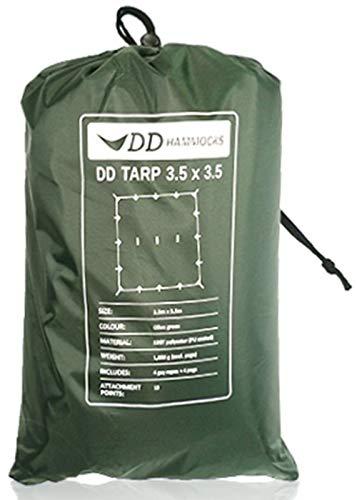 DD Hammocks DD Tarp タープ 3.5 x 3.5 広々としたハンモックシェルター XLハンモックにも対応 軽量な防水...