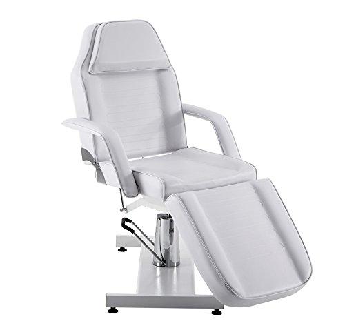 Barberpub Hydraulische Kosmetikliege Therapieliege Massageliege Tattooliege (Weiß)