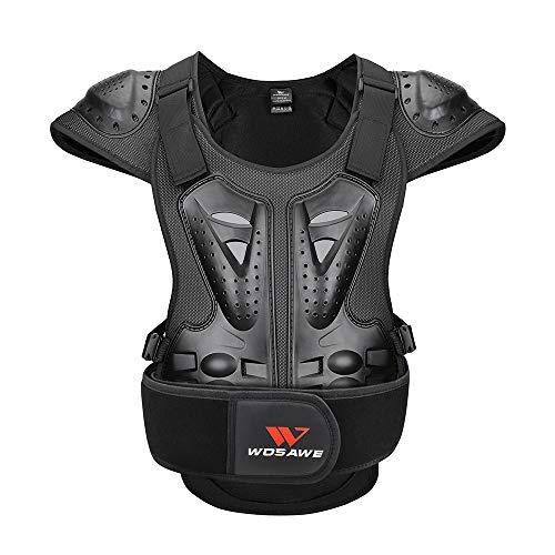 WOSAWE Motorrad Schutz Jacke für Erwachsene, Brustpanzer Racing Guard Rückenprotektoren Schutzausrüstung für Riding Skating Roller Skifahren Snowboard M