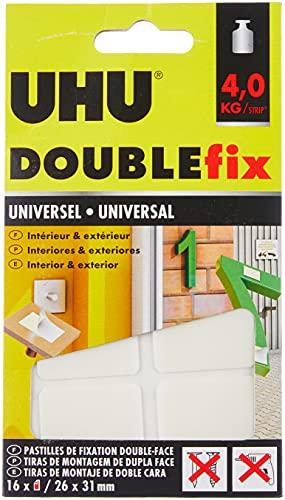 Uhu Doublefix ultra forte universale in pastiglie adesive, resistenza a 4 kg, 16 pastiglie