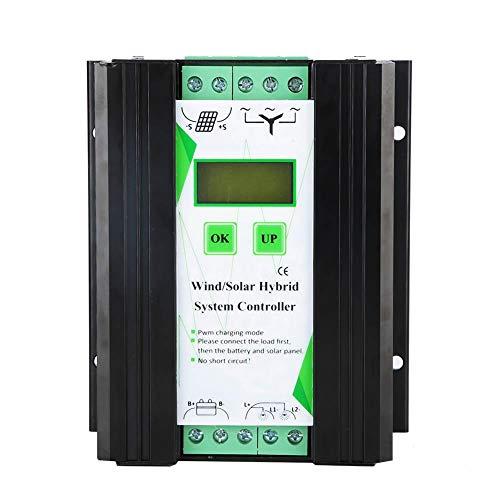 Controlador de Viento Solar, Hybrid Solar eólico híbrido Wind Charge Controller 12V/24V MPPT Controlador del módulo fotovoltaico 200W Energía de la turbina eólica 300W (SCD2430)