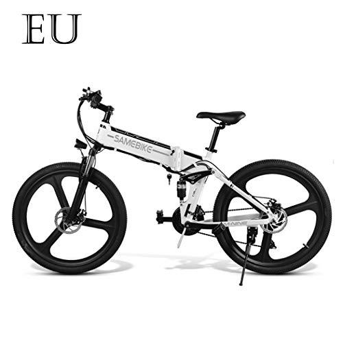 Adolenb E-Bike 26 Zoll E-Faltrad Elektrofahrrad Faltbares Mountainbike mit großer Kapazität (48V 350W), Doppel-Federung und 21-Gang Shimano