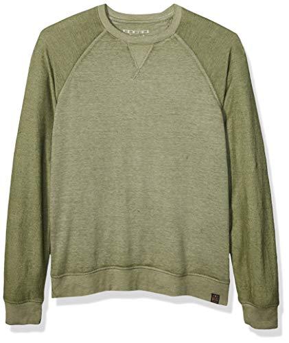 Lucky Brand Men's Micro Terry Fleece Crew Neck Sweatshirt, Cypress, M