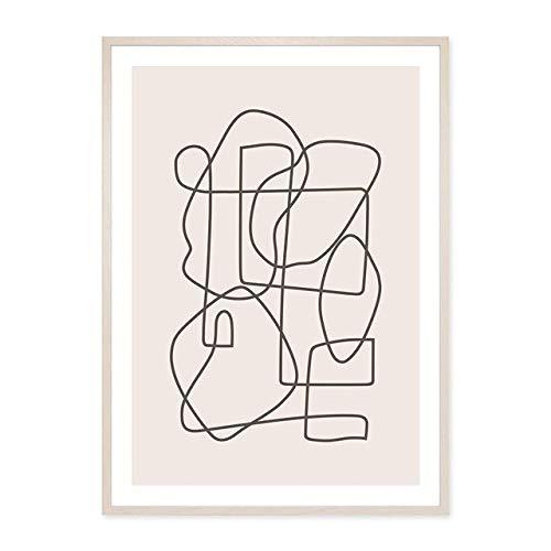 Geometrische Grafik Leinwand Malerei Wandkunst Bild Poster Druck Galerie Wohnzimmer Home Decoration 21x30 cm
