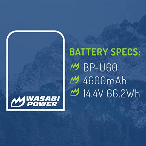 Wasabi Power Battery for Sony BP-U60 and Sony PMW-100, PMW-150, PMW-160, PMW-200, PMW-300, PMW-EX1, PMW-EX1R, PMW-EX3, PMW-EX160, PMW-EX260, PMW-EX280, PMW-F3, PXW-FS5, PXW-FS7