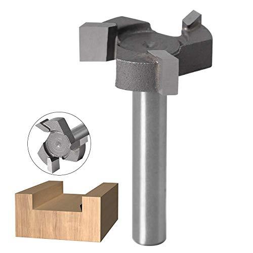 WSOOX 1/4 Zoll Schaft Reinigung Fräser, Hartmetall-Spitze, Reinigung am Boden, Oberfräser für Handarbeit oder Holzbearbeitung