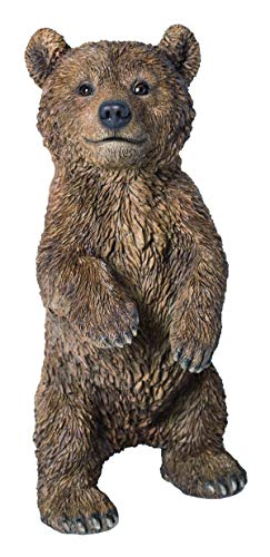 M.E.G Cards & Gifts Vivid Arts - Real Life Standing Bear Cub Home or Garden Decoration (XRL-BEAR-C)