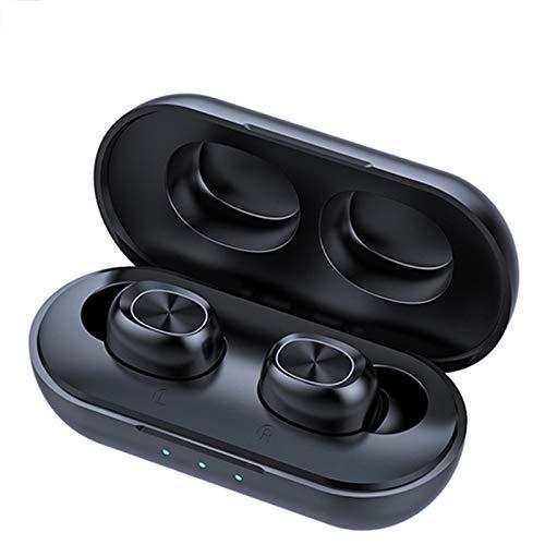 SUN JUNWEI Auriculares Deportivos inalámbricos Bluetooth IPX5 5.0 Impermeables con estéreo de Alta fidelidad CVC8.0 reducción Ruido,para Android y iPhone