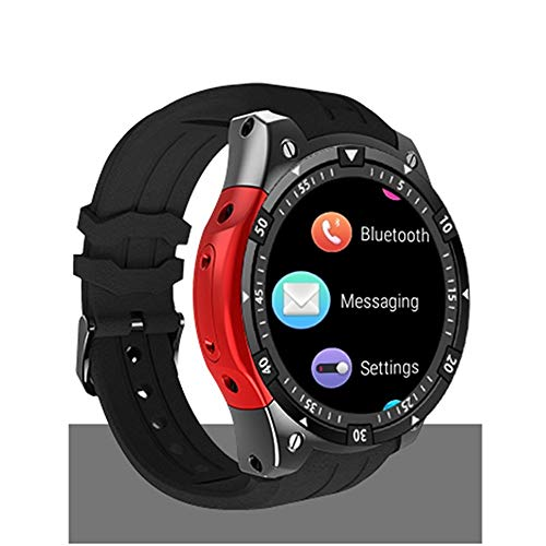 XUMINGZNSB Smart Watch Sport Impermeabile Bluetooth Smart Watch Luo 4 GB 3 g GPS WiFi Android 5.1 SmartWatch Monitor della frequenza cardiaca Passi PK GW06 Q1 Q1 (Colore : C)