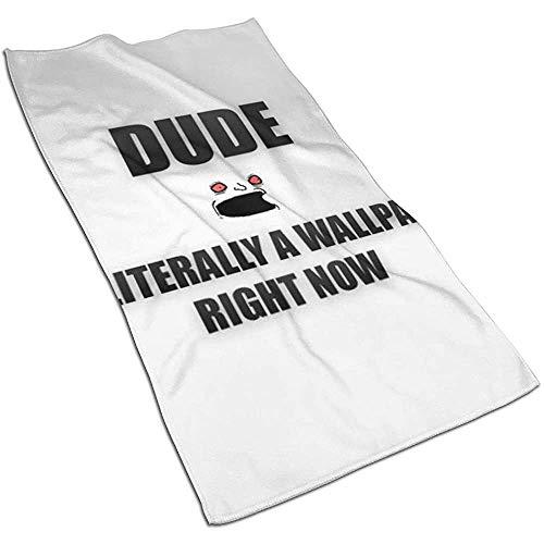 KOOOLPUN Dude Funny Hand Handtuch, Ultra Soft Mikrofaser Handtücher für Badezimmer 40X70CM