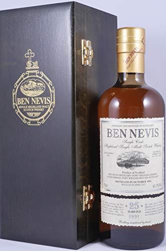 Ben Nevis 1991 25 Years Fresh Sherry Butt Single Cask No. 3711 Highland Single Malt Scotch Whisky Cask Strength 61,3% Vol. - eine von 584 Flaschen eines grandiosen Single Malt von Ben Nevis!