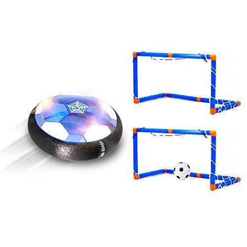Goolsky- Hover Soccer Ball Suspensión Eléctrica Fútbol LED Suspensión Cojín de Aire Fútbol con 2 Objetivos Interior Deportes al Aire Libre Juguetes para Niños