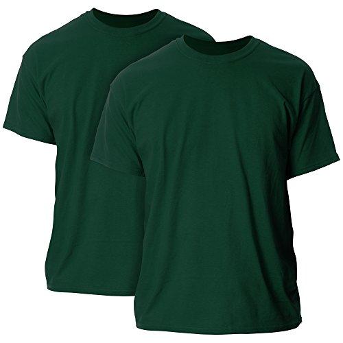 Gildan Men's Ultra Cotton T-Shirt, Style G2000, 2-Pack, Forest Green, X-Large