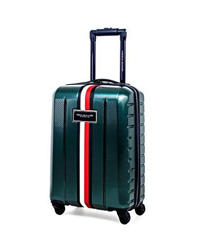 Tommy Hilfiger Riverdale Hardside Spinner Luggage, Green, 21 Inch