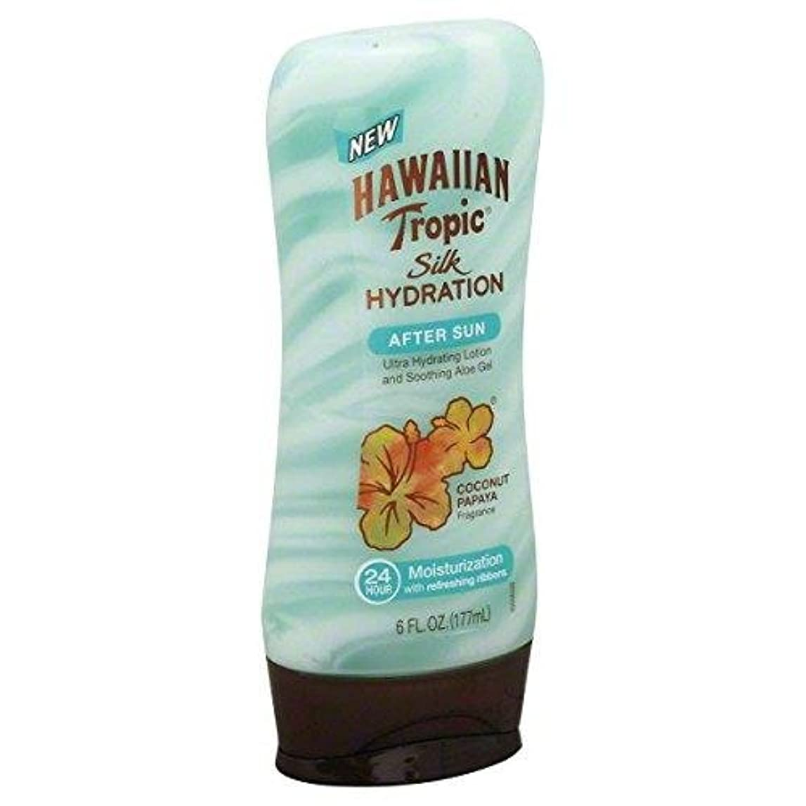 被害者保険無限海外直送品【日焼け後のクールダウン&保湿】Hawaiian Tropic Silk Hydration After Sun Ultra Hydrating Lotion & Soothing Aloe Gel, Coconut Papaya - 6 fl oz (177 ml)