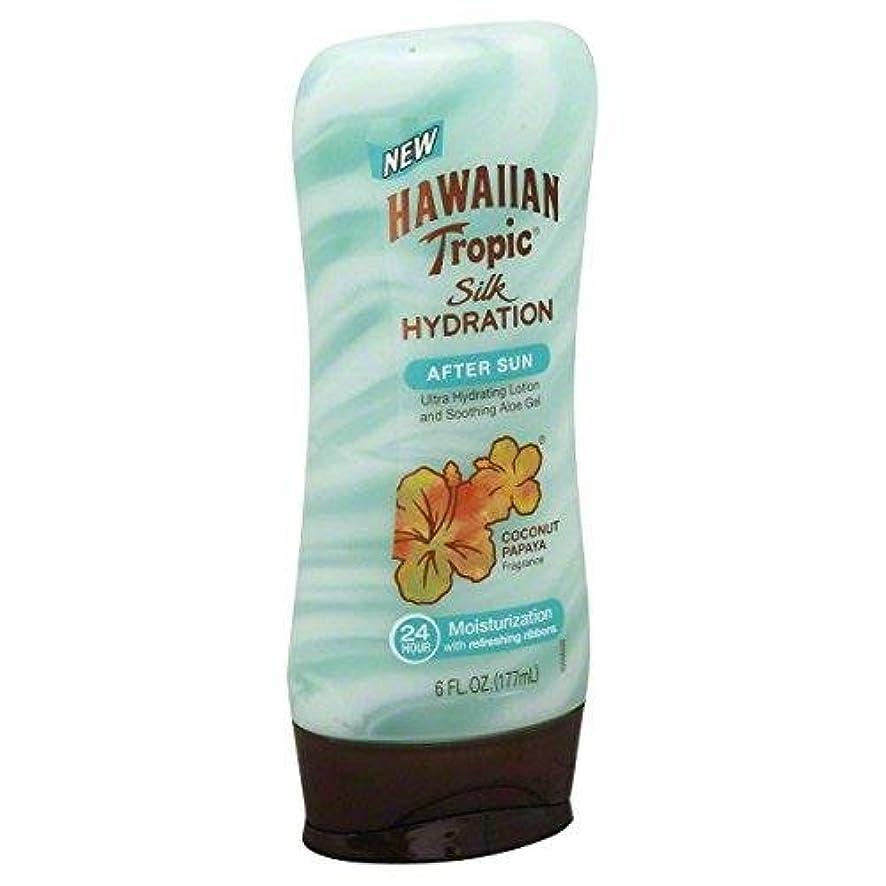 中絶ホールしつけ海外直送品【日焼け後のクールダウン&保湿】Hawaiian Tropic Silk Hydration After Sun Ultra Hydrating Lotion & Soothing Aloe Gel, Coconut Papaya - 6 fl oz (177 ml)