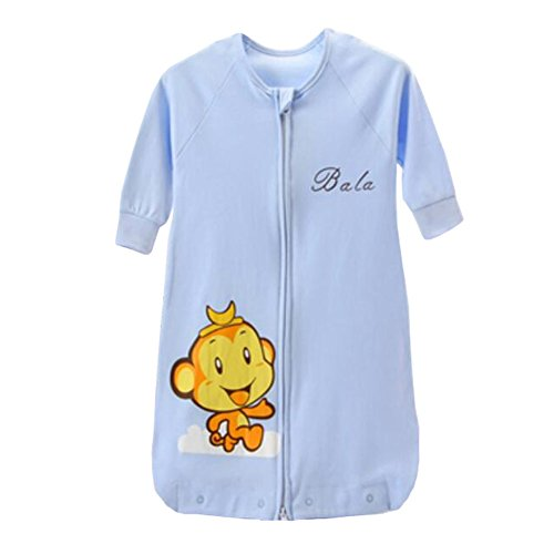Blancho Bedding Lovely Sommer Frühling Baby Cute Sleeping Bag CottonWearable Decke Kinder Geschenk, 0-3 Yrs, XL, blau