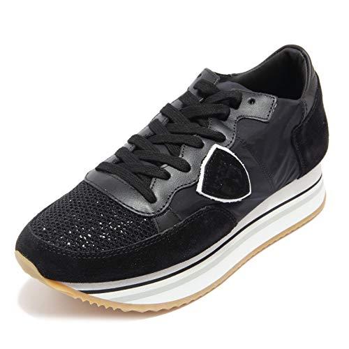 Philippe Model 2371AC Sneakers Alta Donna Tropez Haute Black Shoes Women [35]