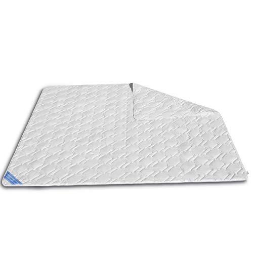 VitaloEssential Sommerdecke 200 x 200 cm - atmungsaktive Seide Decke - Bettdecke aus 60prozent Wildseide- & 40prozent Baumwoll-Füllung - waschbare Schlafdecke - Sommerdecke für Allergiker