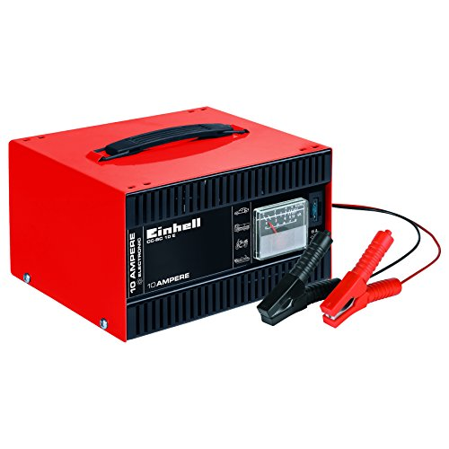 Einhell 1050821 Batterie-Ladegerät CC-BC 10 E (12 V, für Batterien von 5-200 Ah, Ladeelektronik, Stahlblechgehäuse, inkl. Ladeleitung mit Polzangen)
