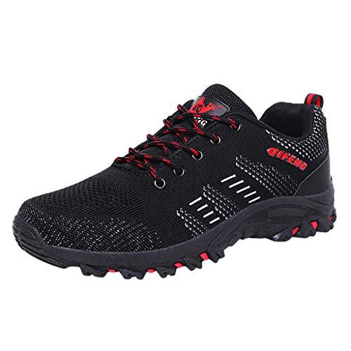 HEETEY Männer im Freien Stricken leichte Mesh Turnschuhe atmungsaktive Mode Laufschuhe Sportschuhe Laufschuhe mit Luftpolster Turnschuhe Profilsohle Sneakers Leichte Schuhe
