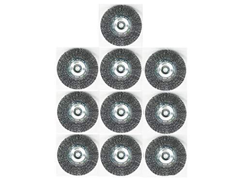 Grizzly Tools Lot de 10 brosses à joints pour brosse à joints électrique EFB 400 Métal/fil/brosse métallique ronde