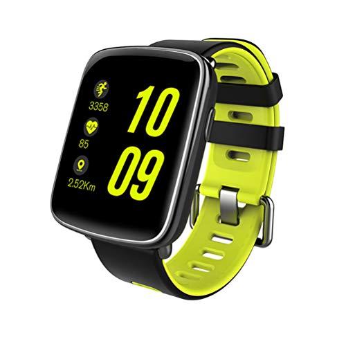 NICERIO Smartwatch,GV68 wasserdichte Sport Smart Uhr Telefon Kamerad Touchscreen Bluetooth Herzfrequenz Schlaf Monitor Sitzende für iOS Android Telefon (grün)