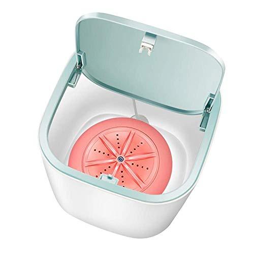AOIWE Lave-Camping Mini Portable Tube Machine Automatique de ménage 3-5kg Wash Cleaner sous-vêtements Soins Lave-Linge for Voiture Voyage Bleu (Color : Pink)