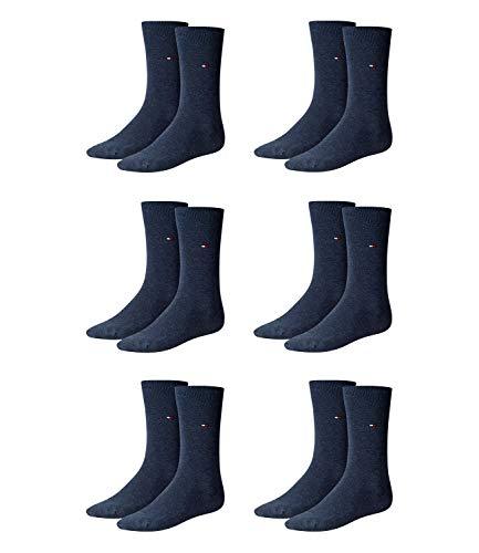 Tommy Hilfiger Herren Classic Business Socken 371111 6Paar, Farbe:Blau;Sockengröße:39-42;Artikel:Socken jeans 371111-356
