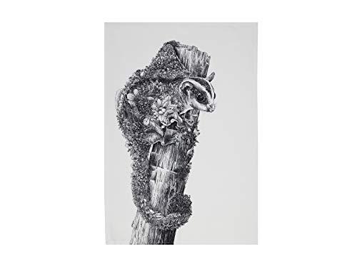 Maxwell & Williams Marini Ferlazzo Geschirrtuch Sugar Glider, 100% indische Baumwolle, weiß, 50 x 70 cm