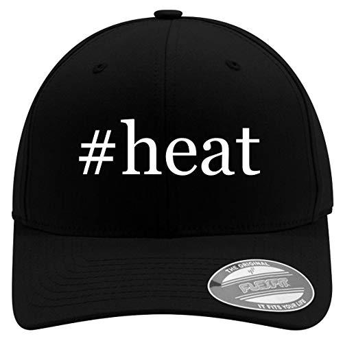 #Heat - Men's Hashtag Soft & Comfortable Flexfit Baseball Hat, Black, Small/Medium