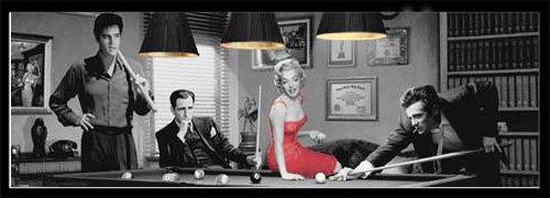 Empire Poster Chris consani – Allongé, Design Table de Billard Cadre en Plastique - Noir