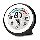 NANGOALA Digital Humidity Monitor Hygrometer Thermometer, Indoor Room Home Temperature Humidity Monitor, Humidity Humidifier Monitor Gauge Meter Reader for Home, Office, Baby Room & Greenhouse