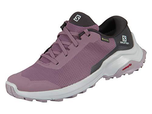 Salomon X Reveal GTX W, Zapatillas de Senderismo Mujer, Morado (Flint/Black/Quail), 39 1/3 EU