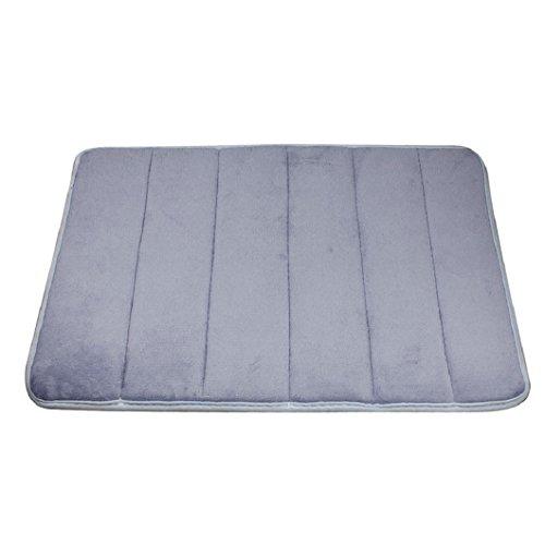 Malloom Rugs Vertical Stripes Memory Foam Bath Mat Carpet Floor Mats