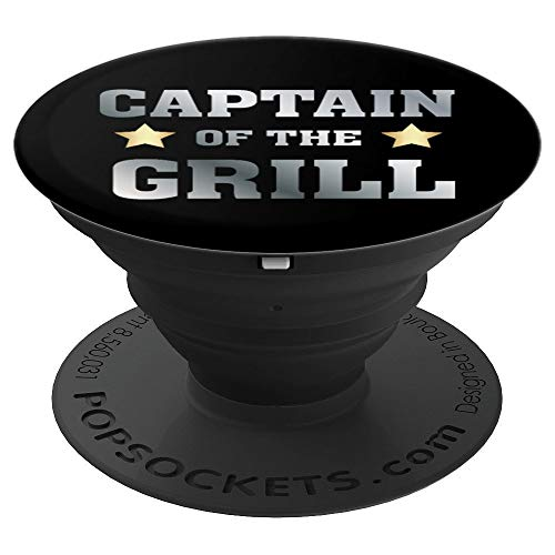 Captain of the grill - Cook - Dad Grilling Out Smoker - PopSockets Ausziehbarer Sockel und Griff für Smartphones und Tablets