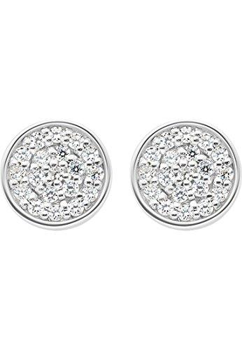 JETTE Silver Damen-Ohrstecker 925er Silber 38 Zirkonia One Size 87223264