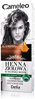 Cameleo Herbal Henna para colorear color crema Golden Chestnut 75 g Extracto Henna Natural con aceite marroquí