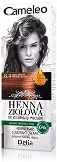 Cameleo Herbal Henna para colorear color crema Golden Chestnut 75g Extracto Henna Natural con aceite marroquí
