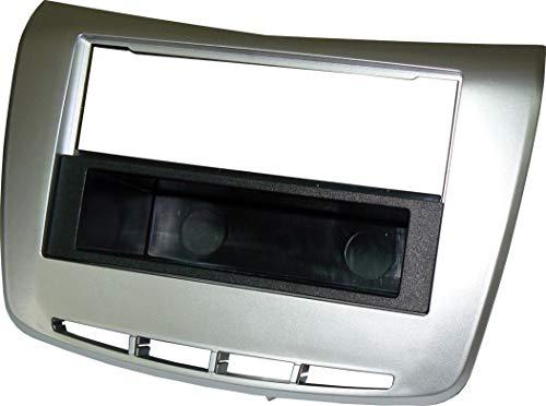 Mascherina autoradio 1 2 DIN Lancia Delta 20092014 Grigio con Cassettino