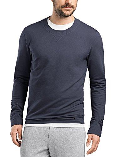 Hanro Herren Living Leisure Sweatshirt, Blau (Black Iris 0496), 58 (Herstellergröße: XXL)
