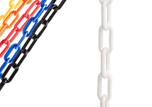 US Weight Chainboss White Plastic Safety Chain with Sun Shield UV Resistant Technology - 25 ft