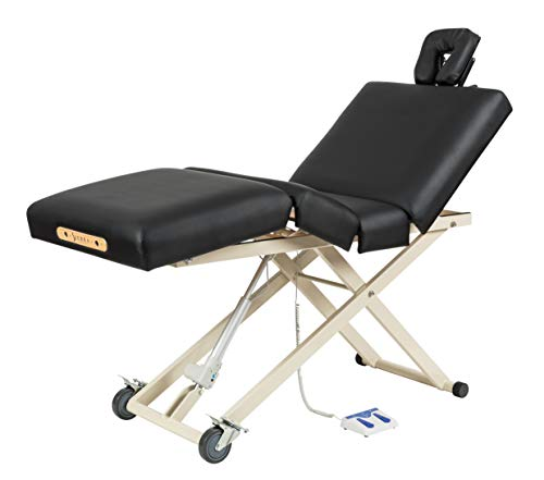 Sierra Comfort Adjustable 4-Section Electric Lift Massage Table, black