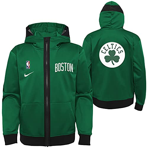 Nike NBA Boys Youth Pull Overtlight Lightweight Hooded Full Zip Jacket, Boston Celtics, Large (14-16)