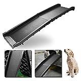 Hengda Hunderampe Auto klappbar,156 x 40 cm,Max 90 kg,Tragbare leichte Rampe für Hunde Auto,Stabil Strapazierfähig rutschfest,Ideal für Autos,LKW und SUVs