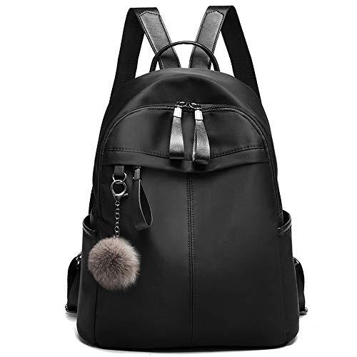 I IHAYNER Rucksack Damen Rucksäcke für Frauen Anti-Diebstahl Tagesrucksack Nylon Wasserdichte Schultertasche Frauen Taschen für Schule Rucksack und Taschen Schwarz