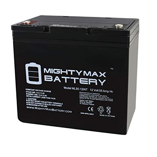 Mighty Max Battery 12V 55AH Internal Thread Battery for Minn Kota Endura Trolling Motor Brand Product