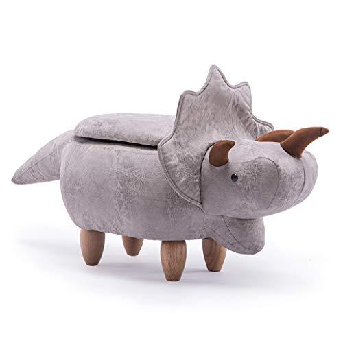 PLL Creatieve cartoon dierenkruk massief houten dinosaurus kruk Home woonkamer wit opslagkruk bank veranderen schoenenbank