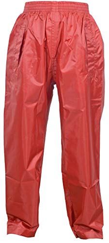 The MONOGRAM Group Ltd Dry Kids Kinder Regenhose - Rot 3/4 Jahre