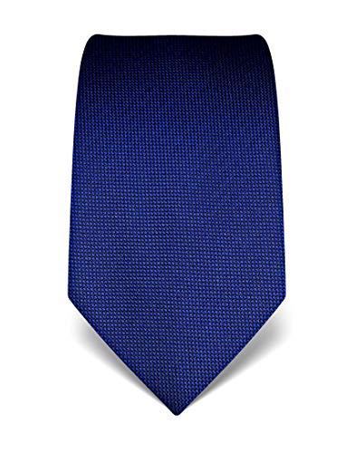 Vincenzo Boretti Herren Krawatte reine Seide strukturiert edel Männer-Design zum Hemd mit Anzug für Business Hochzeit 8 cm schmal/breit royalblau